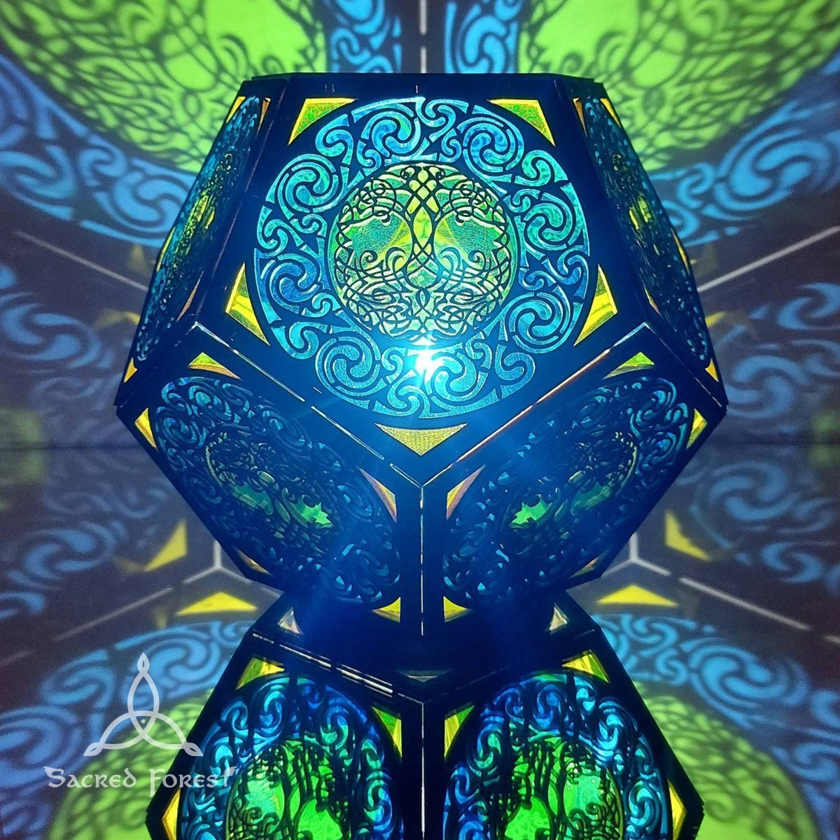 Celtic Color Shadow Lamp by Sacred Forest
